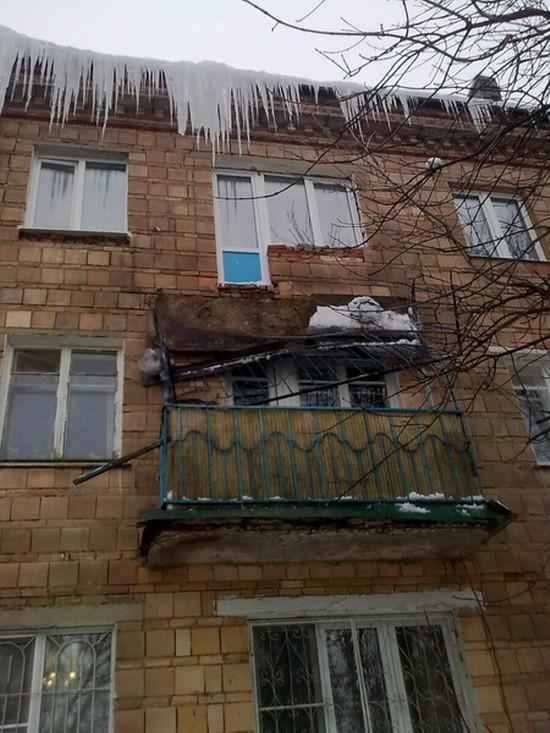Сергиев Посад, балкон, обрушение