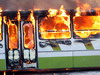 На «Ярославке» сгорел автобус, ехавший из Сергиева Посада в Москву (ФОТО+ВИДЕО)